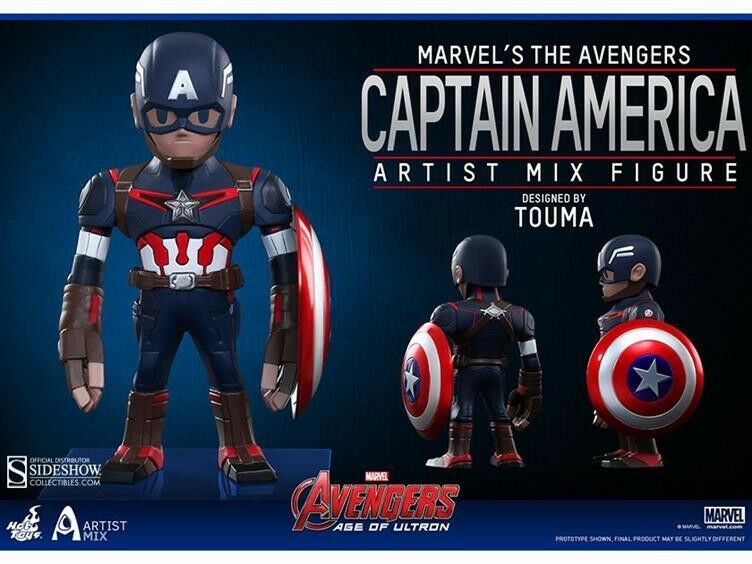 Avengers Age of Ultron konstist Mix Figur Series 1 Captain America Action Figur