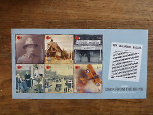 NEW-ZEALAND-2018-WARTIME-BACK-FROM-THE-BRINK-6-STAMP-MINI-SHEET-MINT