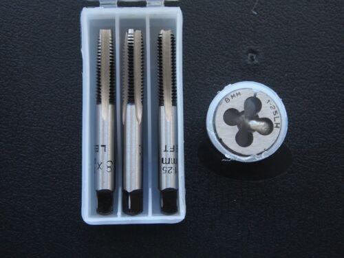 Metric Left Hand Taps Die Set M8 X 1.25 plug conique seconde