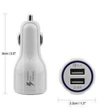 Qualcomm Certified QC3.0 Quick Charge With Dual USB Port Fast Car Charger NEW