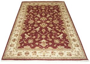 Orient-Teppich-Chobi-Ferahan-Sarough-Ziegler-klassisch-166x254-cm-Rot-Ziglar