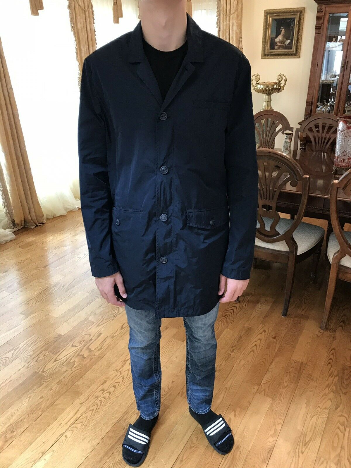 DEKKER Mans Fashion Coat Euro Size XXL Fits XL   Long NEW with Tags €219