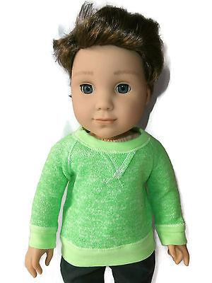 American Girl Boy Doll Lime Green Shirt for Logan