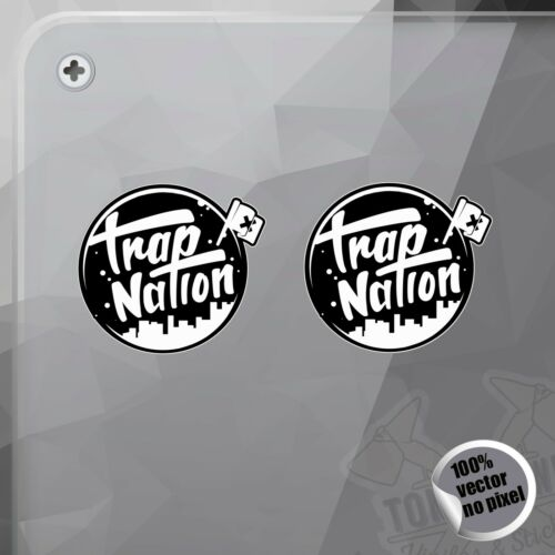 PEGATINA TRAP NATION BLACK MODEL AUFKLEBER DECAL VINYL STICKER AUTOCOLLANT