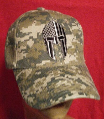 USA Spartan Flag Ball Cap Helmet Solid Lines Camo Adjustable Baseball Cap Hat
