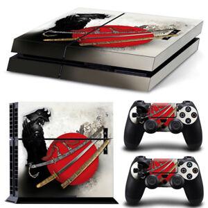 Appris Console Ps4 Playstation 4 Peau Decal Sticker Anime Samurai Custom Design Set-afficher Le Titre D'origine