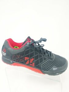 Mens-Reebok-Crossfit-Nano-4-0-M43438-Black-Red-Cross-Training-Shoes-Size-11-5