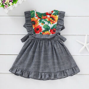 Floral-Print-Toddler-Baby-Kid-Girls-Summer-Party-Dress-Princess-Pageant-Sundress