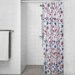 Détails Sur Nouveau Kratten Rideau De Douche Blanc Multicolore 180x180 Cm Marque Ikea Afficher Le Titre D Origine