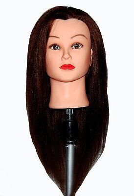 """*USA SELLER*  24"""" Cosmetology Mannequin Head 100% HUMAN Hair ~ Bella ~ xu"""