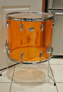 1970 39 s ludwig classic 18 floor tom in amber vistalite for for 18 floor tom