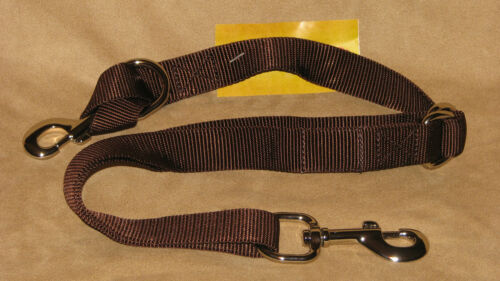 Western Saddle Nylon Web Adjustable Tie Down 1 Inch Web - Brown - New Horse Tack