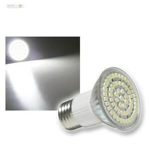 LED Strahler E27 warmweiß mit 60 LEDs Birne E 27  Lampe SPOT Leuchtmittel