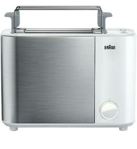BRAUN ID Collection HT 5010 Toaster 1000 Watts Genuine White/ Gray