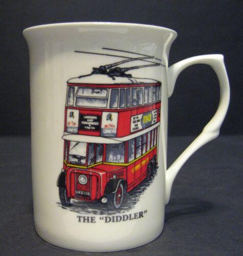 THE DIDDLER TROLLYBUS Bus Tram Fine Bone china mug cup Beaker
