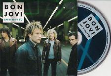 CD CARTONNE CARDSLEEVE BON JOVI SAY IT ISN'T SO 2 TITRES DE 2000