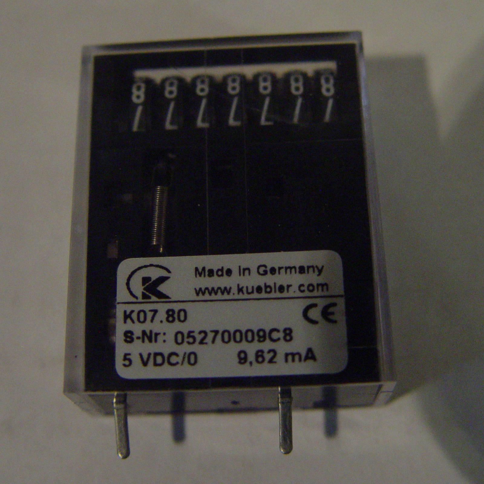 Kubler K07.80-7 Digit Impulse Counter Non-Resettable 5 VDC