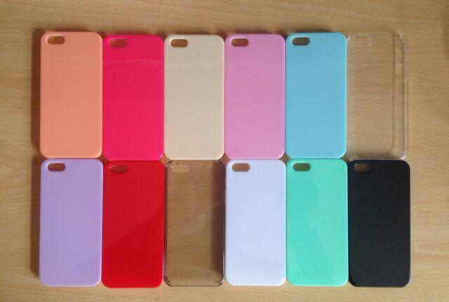 12 x WHOLESALE/JOBLOT iPhone 5/5s PASTEL CANDY COLOURED HARDBACK SLIM CASES