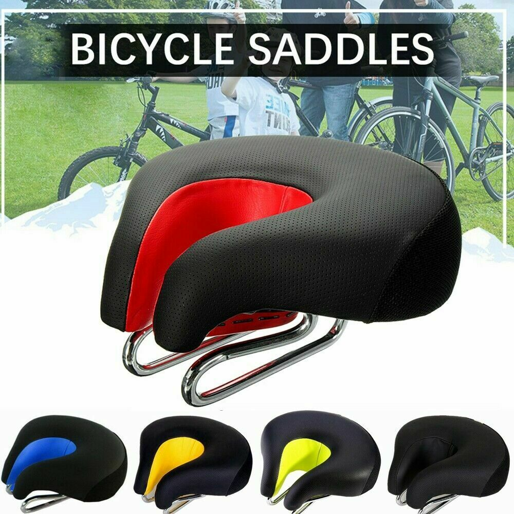 Wide Bicycle Seat Noseless Bike Cycling Road Mountain Cushion Saddle Anti-skid