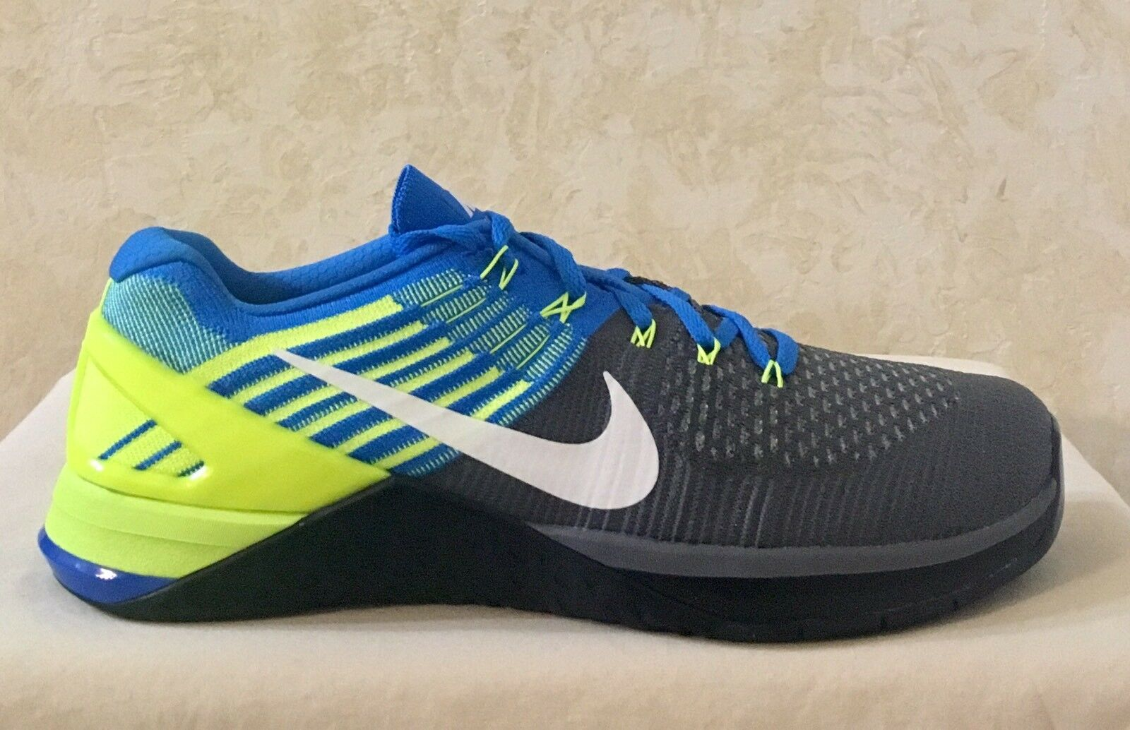 Seasonal price cuts, discount benefits Men Nike Metcon DSX Flyknit Training Athletic Shoes Gray/royal/green 852930-400