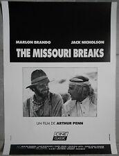 Affiche MISSOURI BREAKS Marlon Brando JACK NICHOLSON Arthur Penn R40x60cm