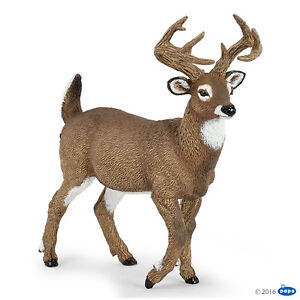 Action Figures Diligent Papo 53021 White-tailed Deer 10 Cm Wild Animals