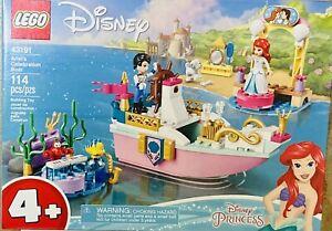 NIB LEGO Disney Ariel's Celebration Boat 43191 Building Kit Toy 114 pieces
