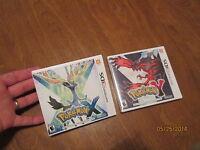 Pokemon X & Pokemon Y Nintendo 3ds Lot 2 Video Games Original Factory Sealed