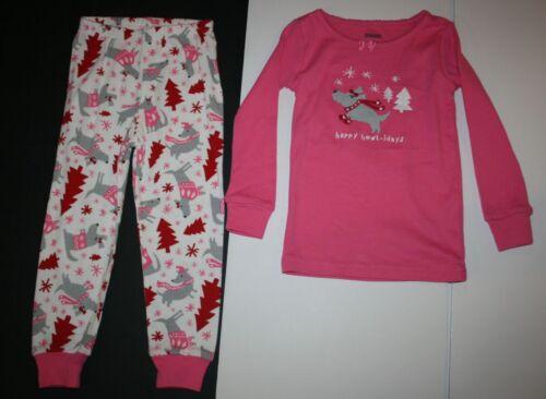 NEW Gymboree Girl Holiday Pajamas Gymmies PJs 3 5 6 7 8 10 Puppy Dog Pine Trees