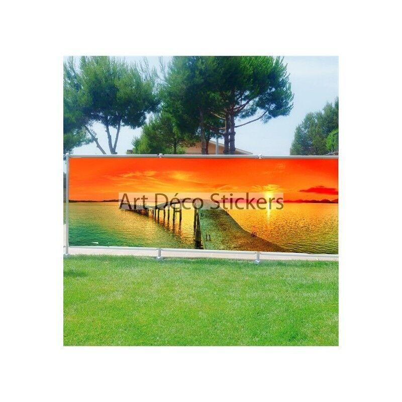Brisa Vista Decoración Impreso para Jardín, Balcón o Terraza Puesta de Sol 9107