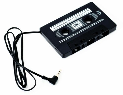 ADAPTADOR CASSETTE PARA AUTO RADIO DE CASETE A MINI JACK 3,5mm MP3 MP4 CD MOVIL