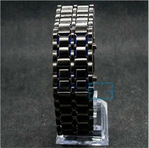LED Digital Stainless Steal Men Women Wrist Watches Christmas Valentines Gifts
