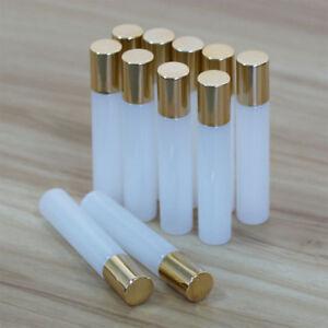10ML-White-Glass-Gold-Cap-Glass-Ball-Roller-Bottles-for-Perfume-Essential