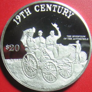 1997-COOK-ISLANDS-20-PROOF-93oz-SILVER-CAR-AUTOMOBILE-INVENTION-19th-CENTURY