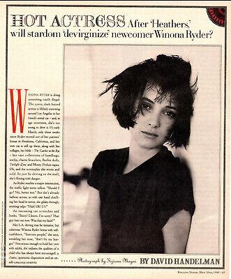 WINONA RYDER 1989 Actress Rare Exclusive 8 x 10 PHOTO 538