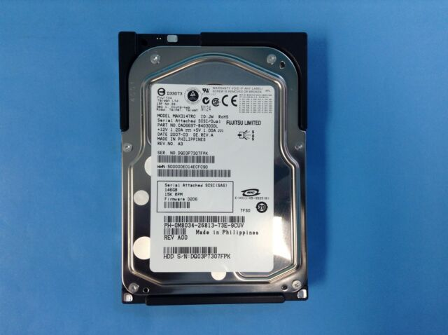 "Dell M8034 | Dell 146GB SAS 15K 3GBPS 3.5"" Hard Drive MAX3147RC CA06697-B40300DL"