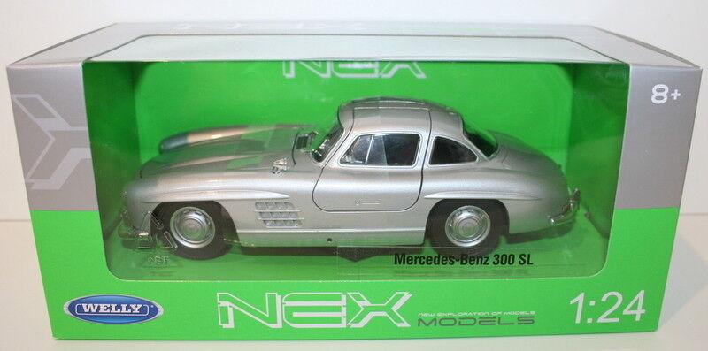 seguro de calidad Welly NEX 1 24 Scale 24064W - Mercedes Benz Benz Benz 300SL - plata  ahorra hasta un 30-50% de descuento