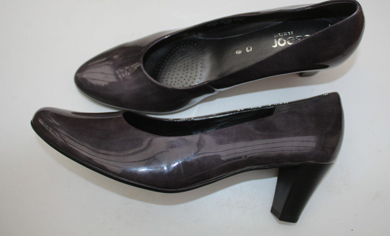 Schuhe - Pumps Gabor Gr. 8 - 42 - Neuware glänzend - grau - Neuware - fef3d3