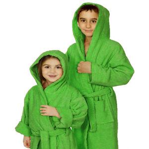 100% Cotton Kids Terry Hooded Robe Terry Towel Hooded Bathrobe Kids ... 6bc8bf34b