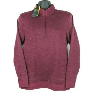 NEW-Under-Armour-Mens-Small-S-Red-ColdGear-Storm-1-2-Zip-Fleece-Pullover-Sweater