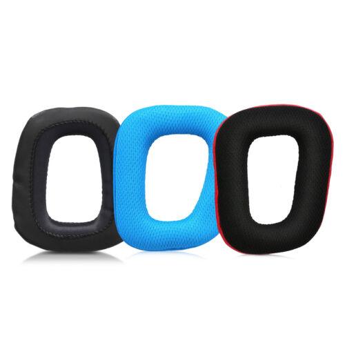 2x Ohrpolster für Logitech G430 G35 G930 F450 Kopfhörer Kunstleder Headphones