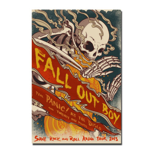Fall Out Boy Rock Band Music Star Fabric Silk poster 13x20 24x36 inches