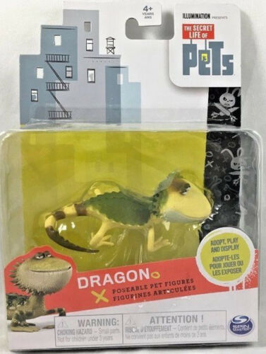 THE SECRET LIFE OF PETS PERSONAGGIO DRAGON IGUANA ARTICOLATO ACTION FIGURES