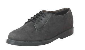 Vegace - Fivetop Men Black Nubuck Leather Shoe Lace Classic Casual Oxford 5902