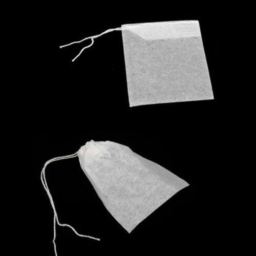 100X non-tissé vide sachet chaîne de chaleur ÉTANCHE filtre à thé  ST