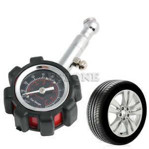 motor car truck bike tyre tire air pressure gauge dial meter tester 0 100 psi ebay. Black Bedroom Furniture Sets. Home Design Ideas