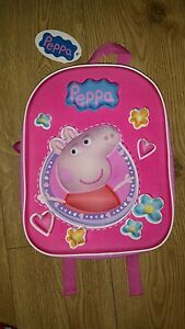 NEW-PEPPA-PIG-3D-CHILDRENS-SCHOOL-BAG-RUCKSACK-BACKPACK