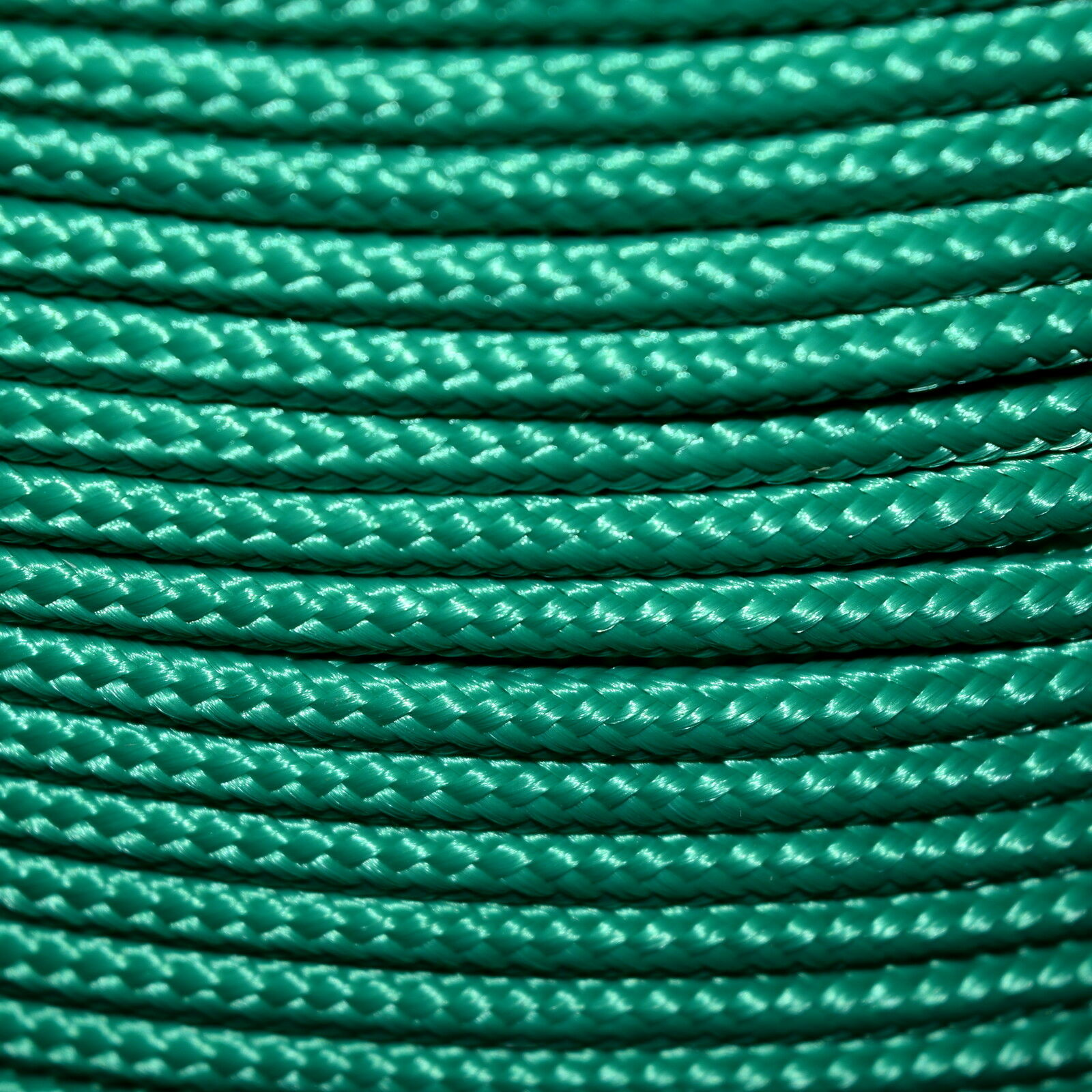 Polypropylene Rope Braided Cord Woven Twine Boating Camping Climbing - Green