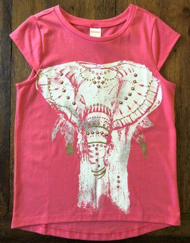 Gymboree Size 4 5 Elephant Tee Shirt SAFARI TWIRL Pink Gold Glitter Girls New