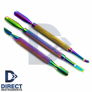 Professional Multi Color Cuticle Nail Pusher Gouge Small Spoon